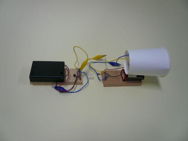 光送受信機の写真